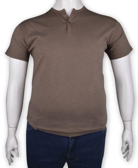 %100 Pamuk Düğmeli T-shirt (1210)