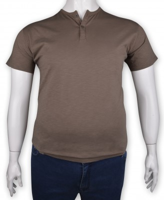 ZegSlacks - %100 Pamuk Penye Düğmeli T-shirt (1210)