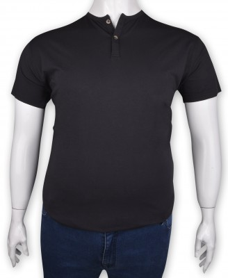 ZegSlacks - %100 Pamuk Penye Düğmeli T-shirt Antrasit (1215)