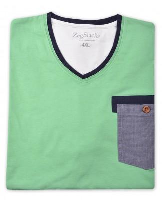 ZegSlacks - %100 Pamuk V Yaka T-shirt (1615)