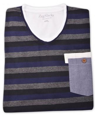 ZegSlacks - %100 Pamuk V Yaka T-shirt (1620)