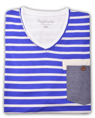 ZegSlacks - %100 Pamuk V Yaka T-shirt (1622)