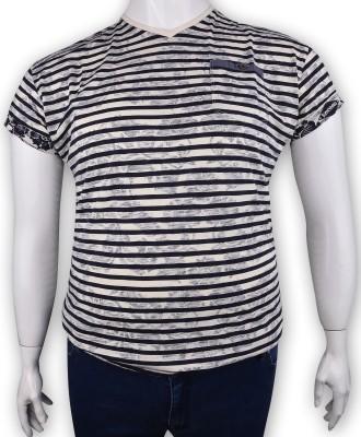 ZegSlacks - %100 Pamuk Baskılı V yaka t-shirt 1623