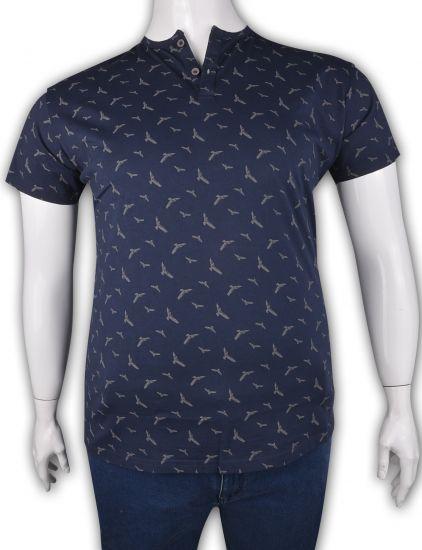 %100 Pamuk Düğmeli T-shirt (2082)