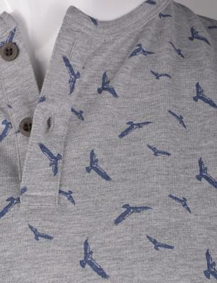 %100 Pamuk Düğmeli T-shirt (2084) - Thumbnail