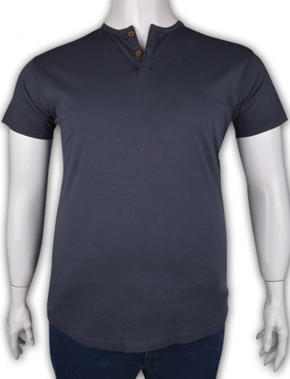 %100 Pamuk Düğmeli T-shirt (2087)