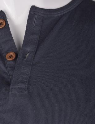 %100 Pamuk Düğmeli T-shirt (2087) - Thumbnail