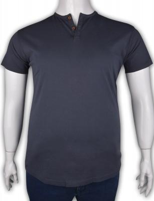 ZegSlacks - %100 Pamuk Penye Düğmeli T-shirt (2087)