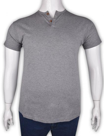 %100 Pamuk Düğmeli T-shirt (2091)