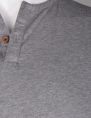 %100 Pamuk Düğmeli T-shirt (2091) - Thumbnail