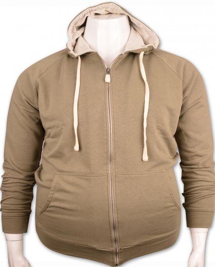 %100 PAMUK Kapişonlu Sweatshirt (4276)/A.Yeşil