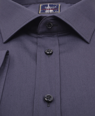 ZegSlacks - %100 Pamuk Klasik gömlek /Füme (gml2938)