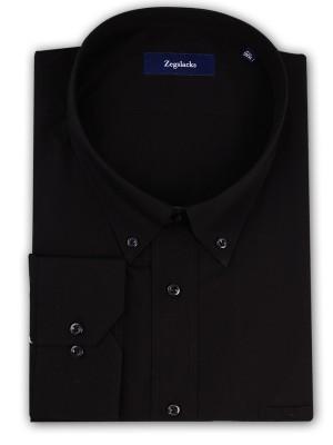 ZegSlacks - % 100 Pamuk Spor Gömlek /SİYAH (6434)