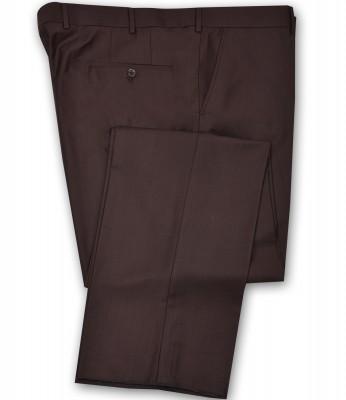 ZegSlacks - Klasik Kumaş Pantolon Kahve ( Düşük Bel ) (3263pnt)