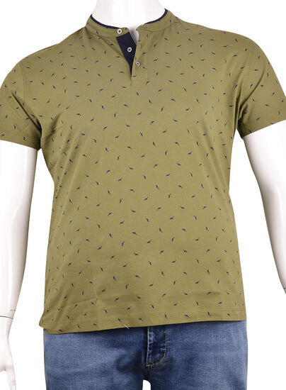 Pike Kumaş Düğmeli T-Shirt (Pk0333)