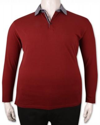 ZegSlacks - Bordo Piquet Polo Yaka Sweatshirt (psw4336)