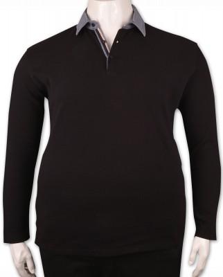ZegSlacks - Siyah Piquet Polo Yaka Sweatshirt (psw4340)