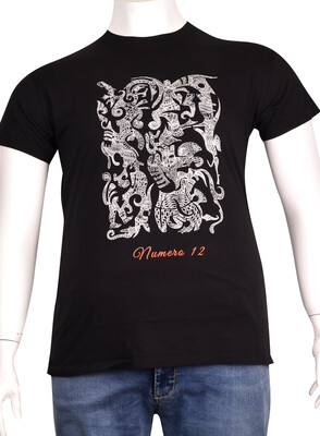 ZegSlacks - Sıfır Yaka Baskılı T-Shirt (BKT0307)