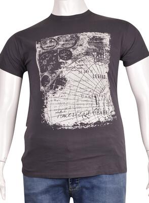 ZegSlacks - Sıfır Yaka Baskılı T-Shirt (BKT0312)