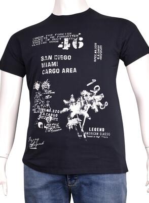 ZegSlacks - Sıfır Yaka Baskılı T-Shirt (BKT0313)