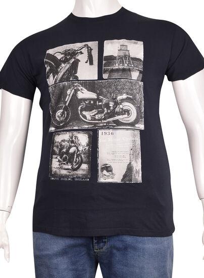 Sıfır Yaka Baskılı T-Shirt (BKT0314)