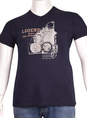 ZegSlacks - V Yaka Baskılı T-Shirt (BKT0291)