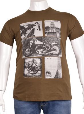 ZegSlacks - Sıfır Yaka Baskılı T-Shirt (BKT0302)